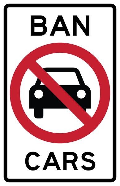 Image of BAN CARS Sticker