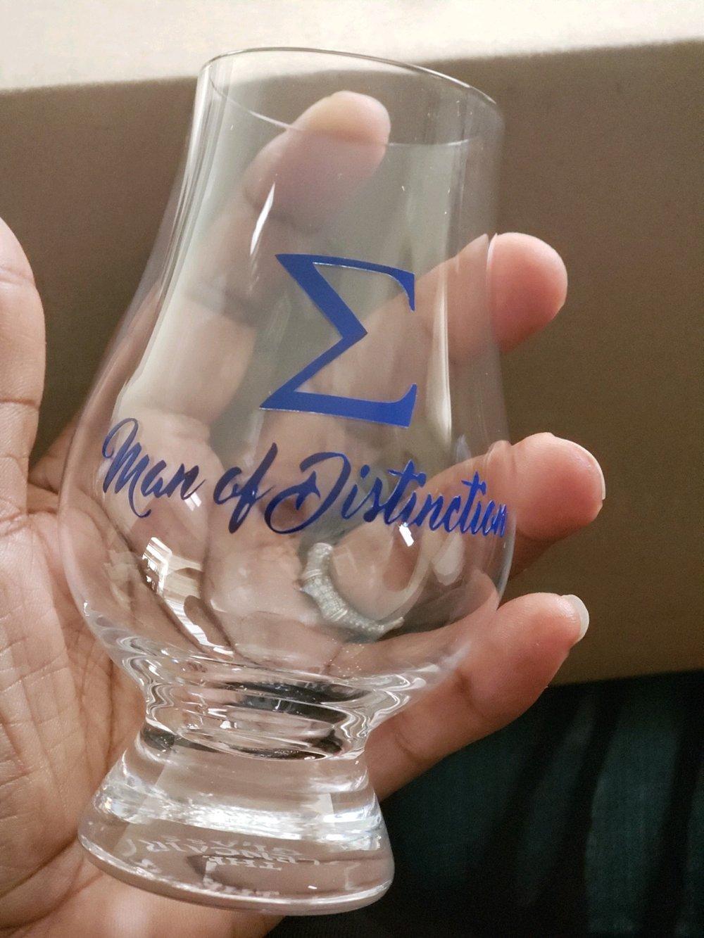 Sigma Man of Distinction - Glencairn Whisky Glass