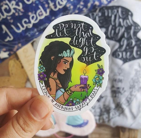 Image of Add on: Crown of Midnight Inspired Sticker