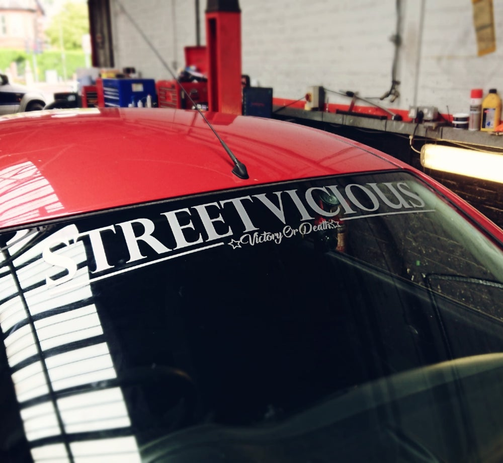 """Image of Street Vicious Classic Windscreen Banner - 40"""""""
