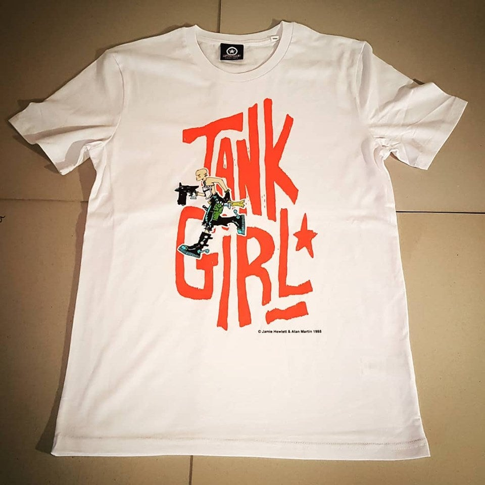 Image of The First Tank Girl T-Shirt (originally produced in 1988)