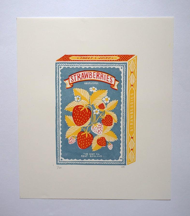 Image of June Print - Strawberries