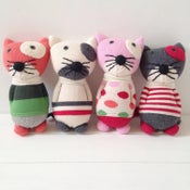 Image of Anne Claire Petit Cotton Knit Cat with Bell
