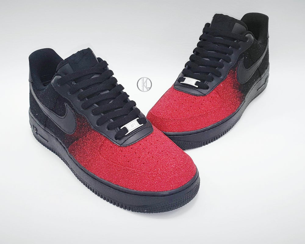 Image of Night Rose Nike Air Force 1 (Glitter)