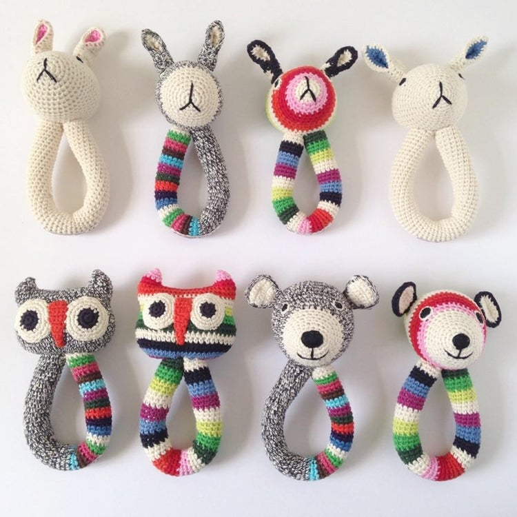 Image of Anne Claire Petit Organic Animal Ring Rattle