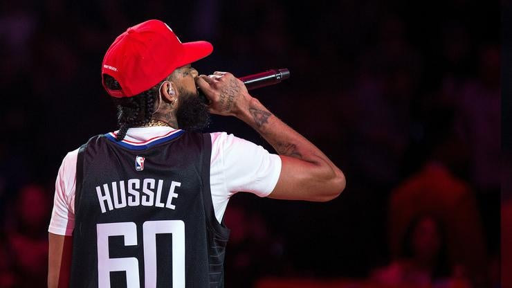 """Image of Nipsey Hussle Clippers """"Rolling 60s"""" bball Custom"""