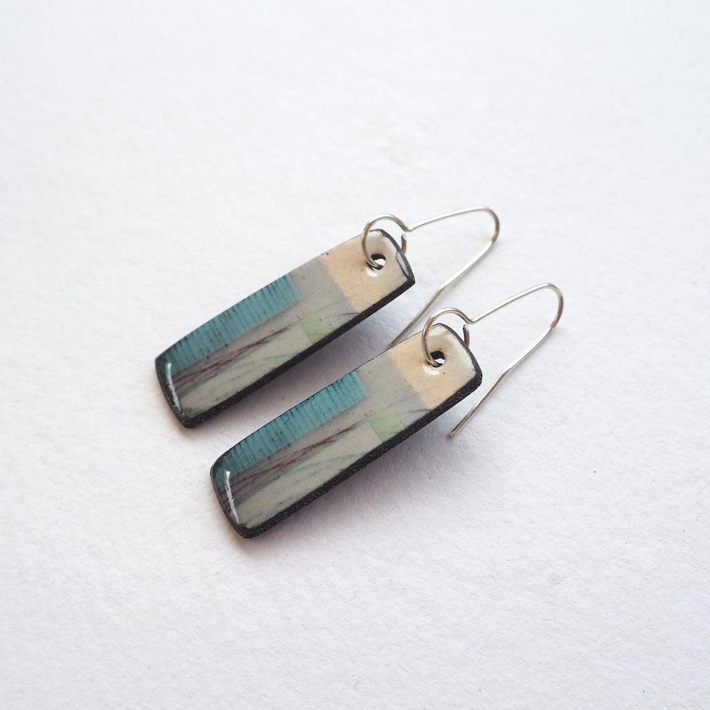 Image of Elements Range - Mere Drop Porcelain Earrings