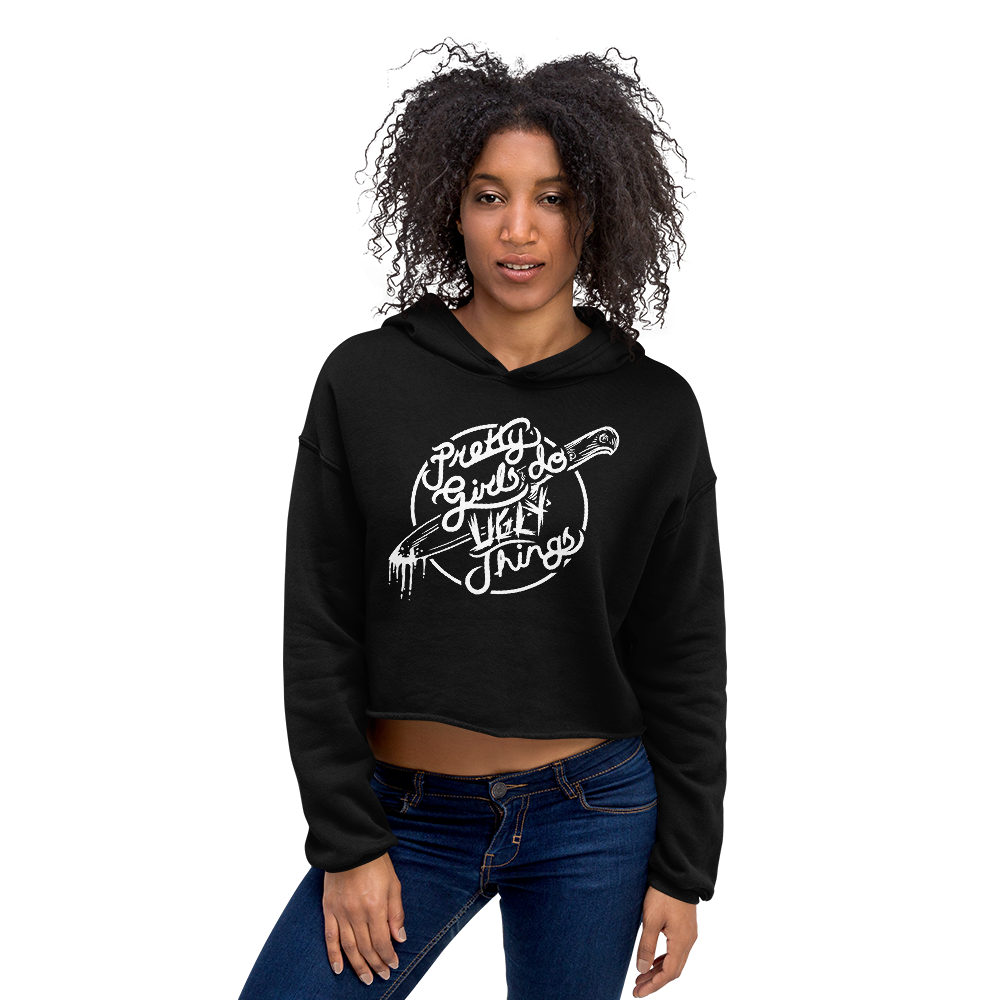 Image of Pretty Girls Do Ugly Things Crop Hoodie