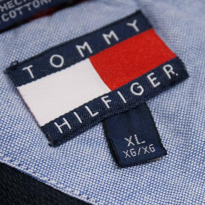 Image of Tommy Hilfiger Vintage Tartan Rugby Size XL
