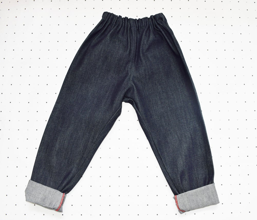 Image of RECYCLED DENIM CRAWLER JEANS