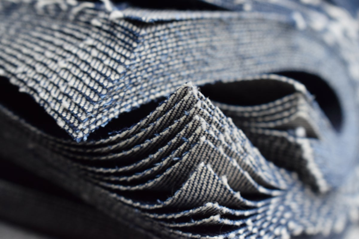Image of RECYCLED RAW SELVEDGE CRAWLER JEANS
