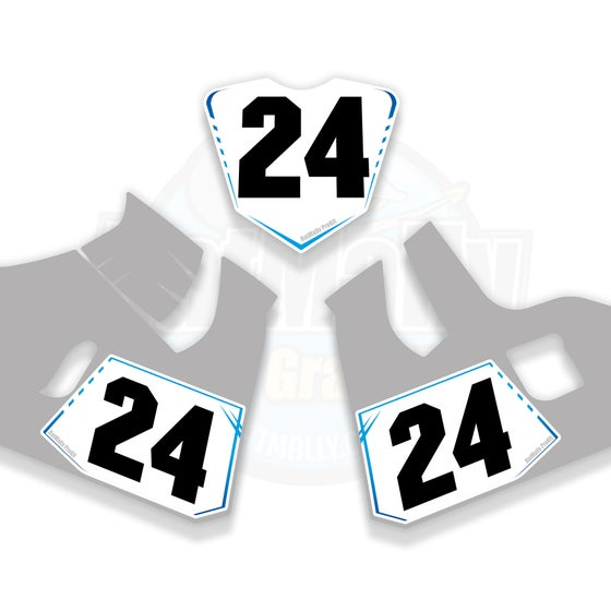 Image of Race Number Boards to fit Suzuki GSX-R 1000R 2017> Plus