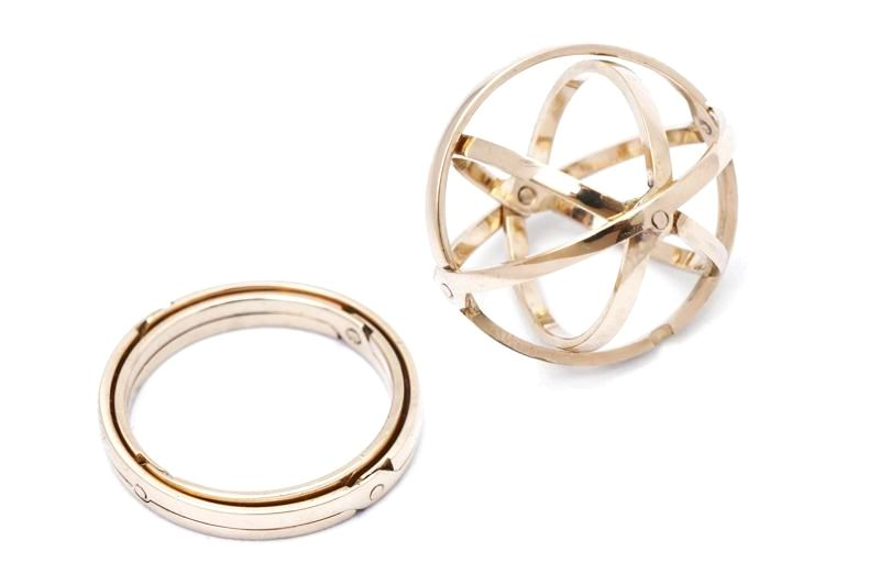 Image of 4 Band Armillary Sphere Ring