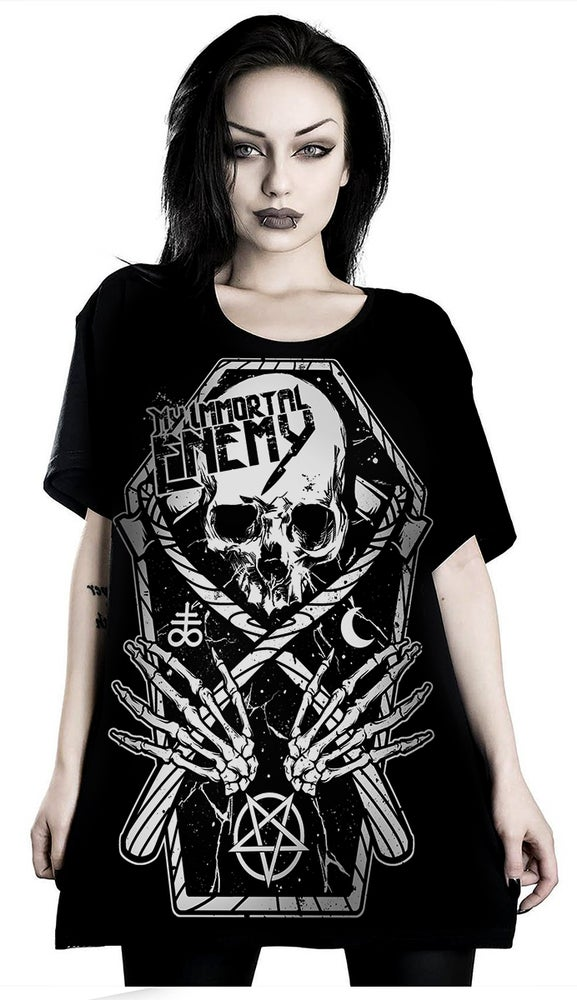 Image of COFFIN/SKULL T-SHIRT