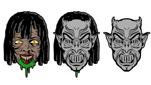 Image of Demons by Psycho Street Bum (Removable Mask)