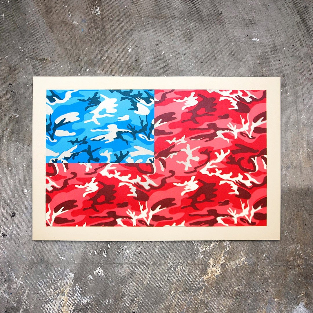 Image of Camo Flag - Silkscreen