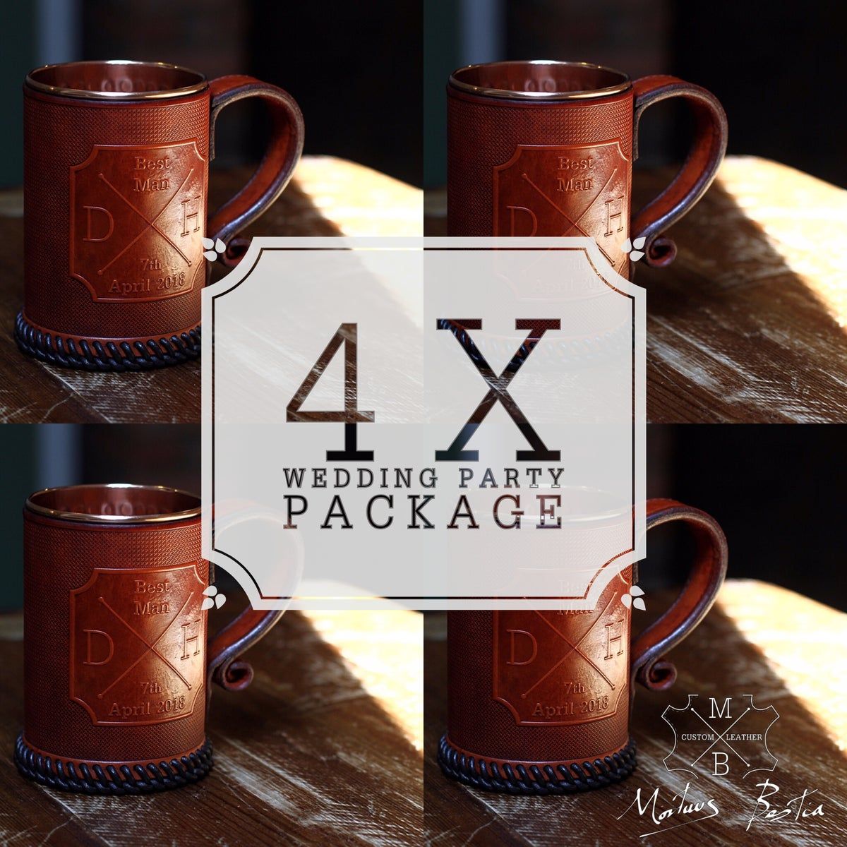 Image of Hipster Cross / Compass Design Wedding Party Package