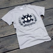 Image of Skull & Bones Crest T-Shirt (Grey)