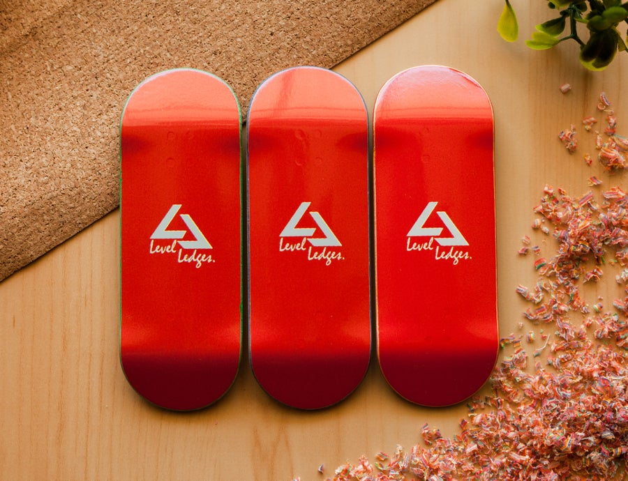 "Image of ""RED"" Graphic Deck 33.5mm + FREE Concrete ""Pole Jam"""