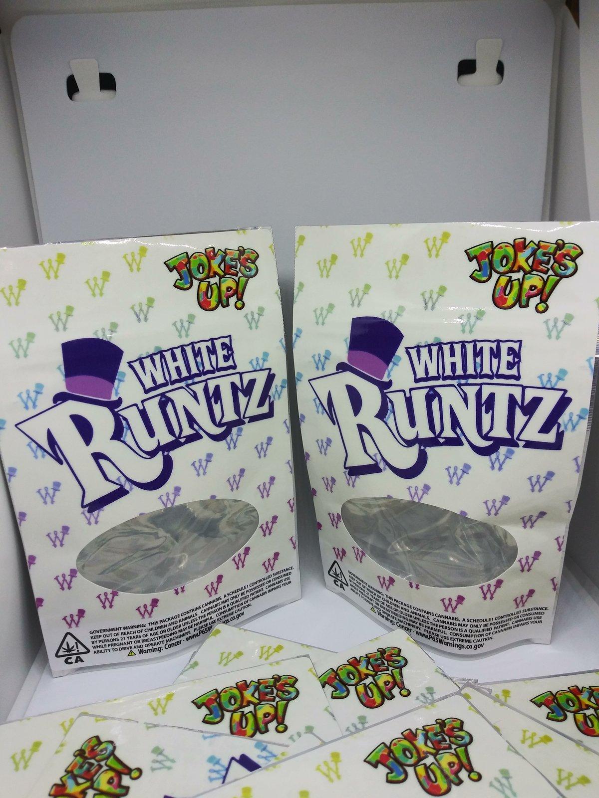 White Runtz SF of California Mylar 3.5-7g Mylar bags packaging Seal 25-1000 Ct