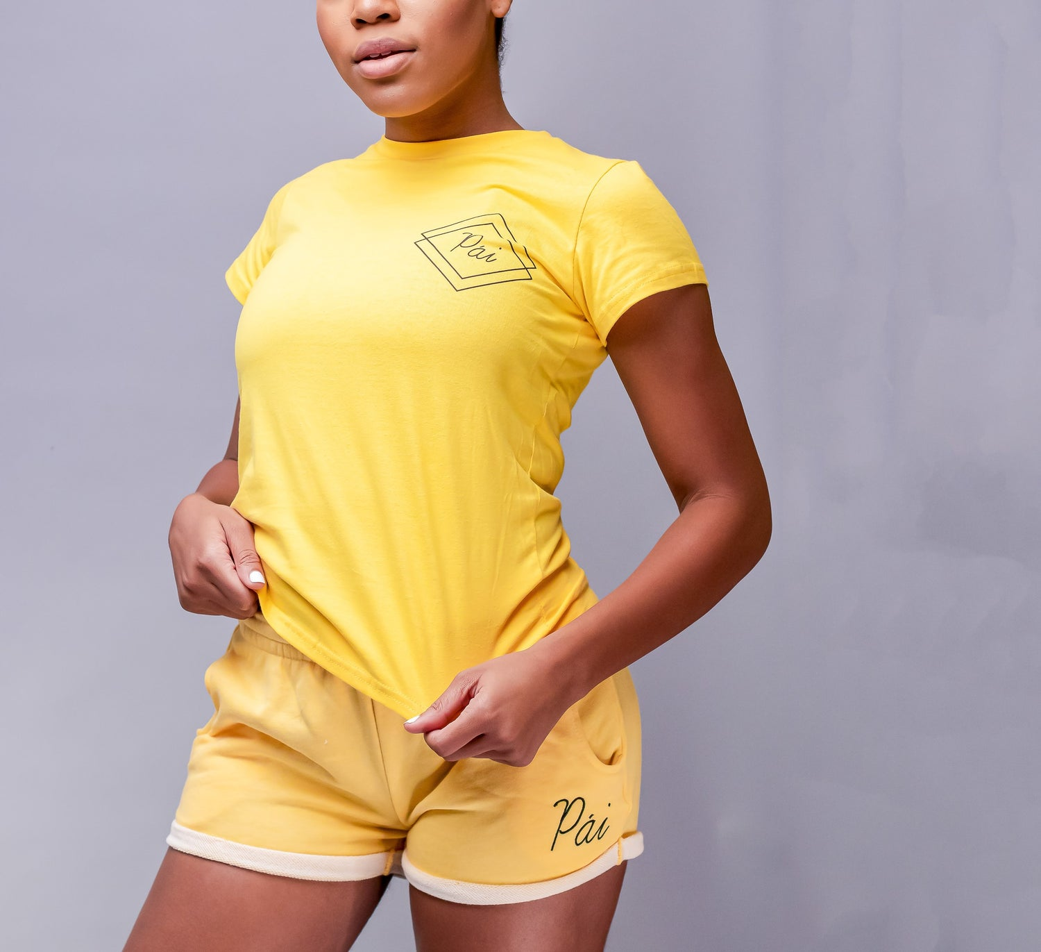 Image of Yellow Balmy Pái Shorts