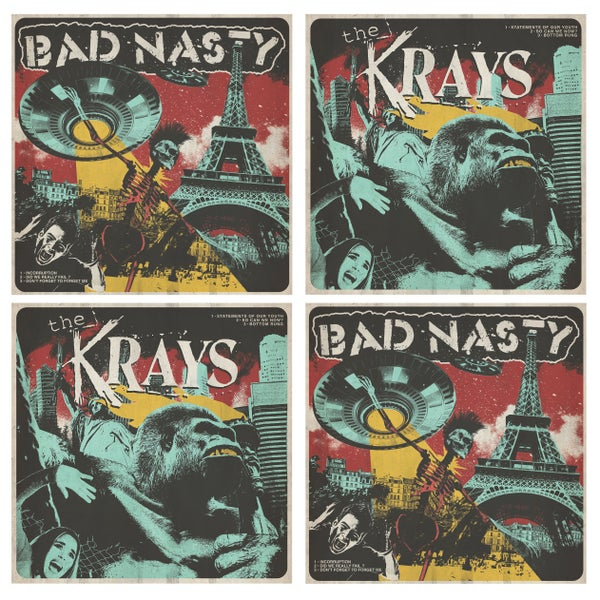 "Image of The Krays / Bad Nasty « Split Lp 12"" »"