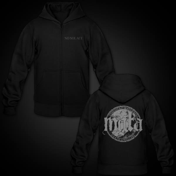 Image of MGŁA - 'NO SOLACE' ZIP HOODIE