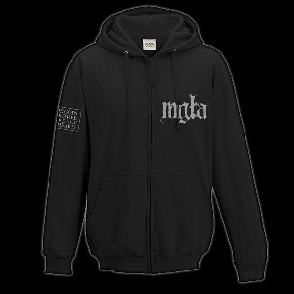 Image of MGŁA - '...AS IF THE GODS' ZIP HOODIE