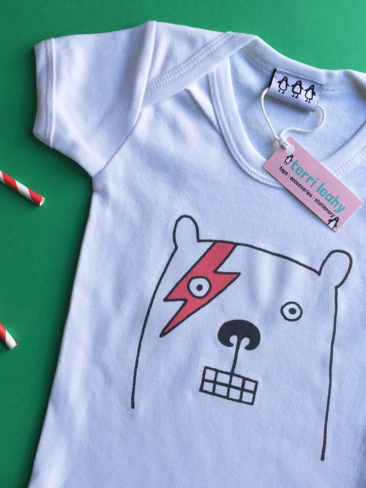 Image of Bowie Bear Babygrow