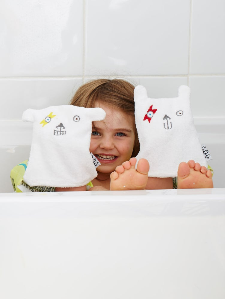 Image of Bowie Bear Puppet Wash Cloth