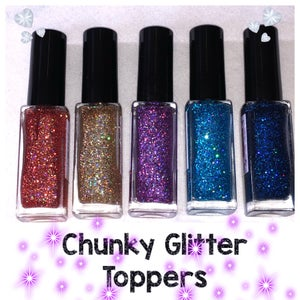 Image of Chunky Glitter Toppers - 25% OFF