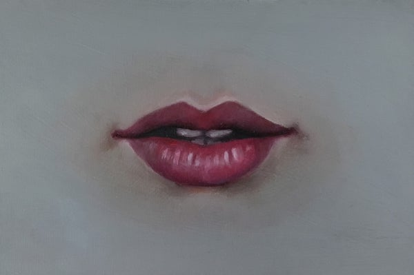 Image of Mouth Study - Oil Painting on Panel 4x6