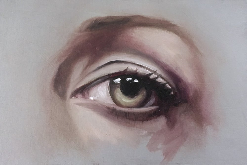 Image of Eye Study - Oil Painting on Panel 4x6