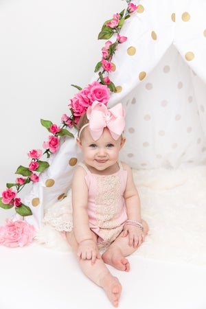 Image of Linen & Lace in Pink
