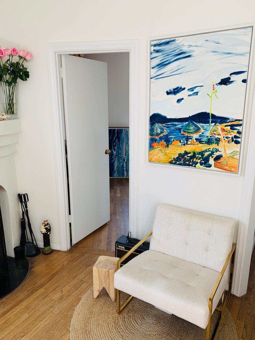"Image of Surf Lodge IV, 30"" x 40"" painting (framed)"