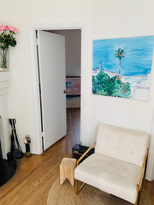 "Image of Marina, San Francisco, 30"" x 30"" painting"