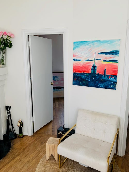 """Image of Empire State II, 30"""" x 30"""" painting"""