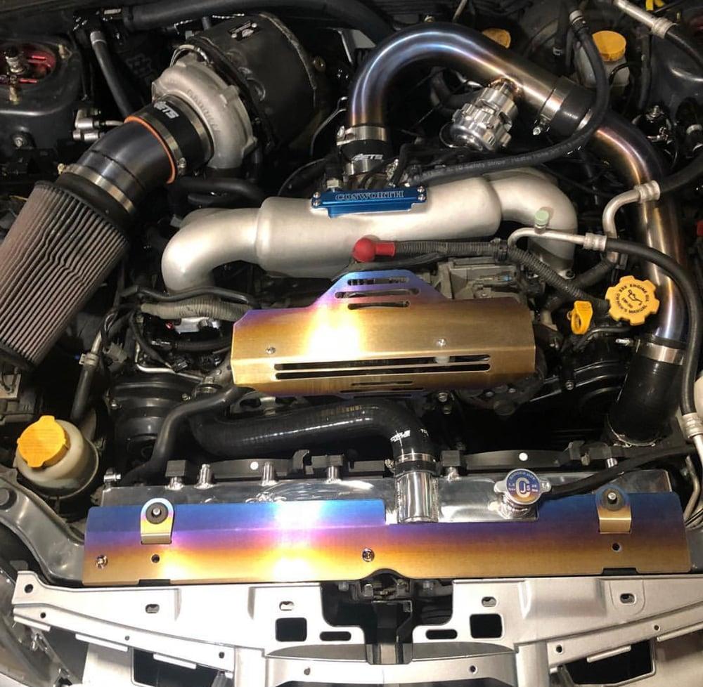 Titanium Cooling plate Subaru WRX/STI (radiator Shroud)