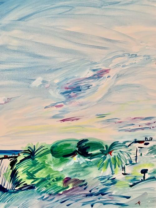 "Image of Jardines, 30"" x 40"" painting"