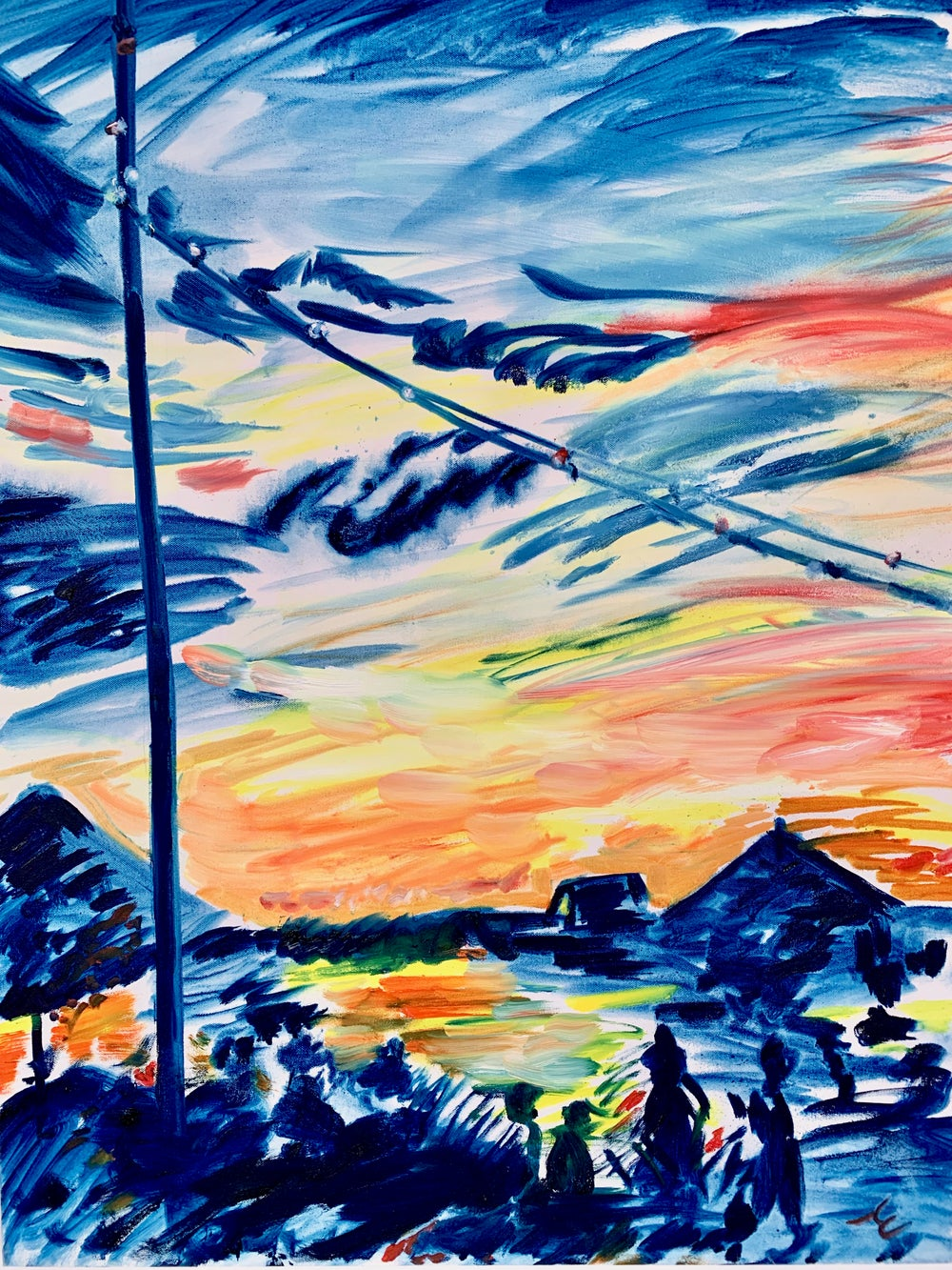 "Image of Surf Lodge III,  30"" x 40"" painting"