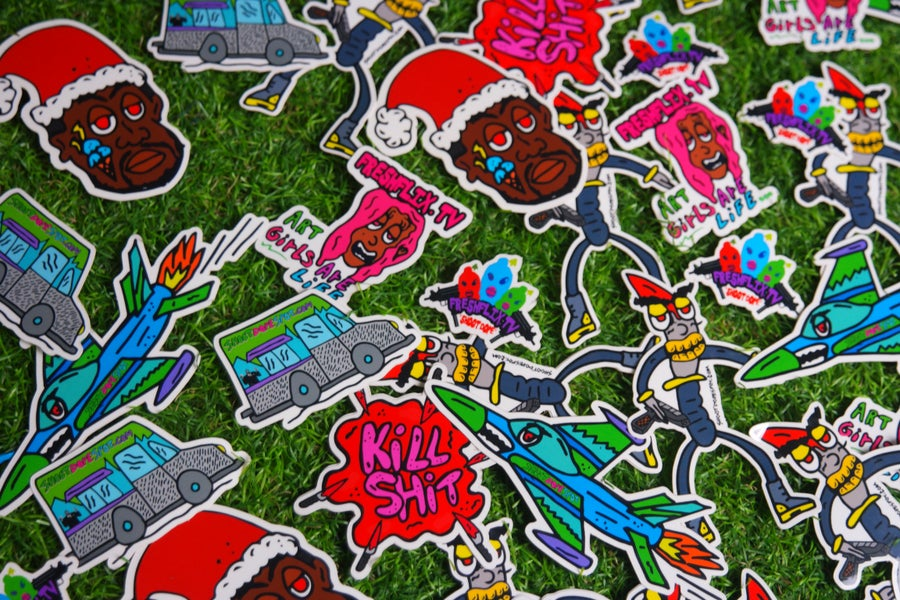 Image of SHOOT DOPE SPOT Stickers