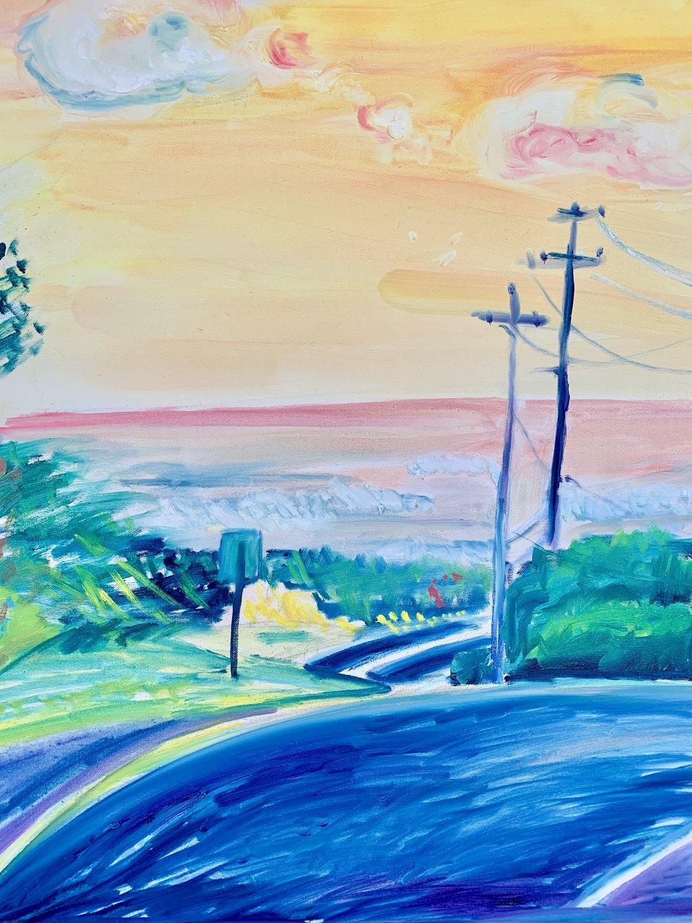 "Image of Montauk Highway 30"" x 40"" painting"