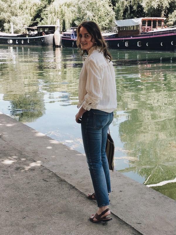 Blouse Sarah jaune - Maison Brunet Paris