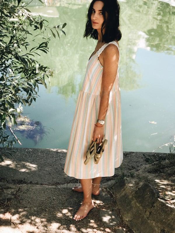 Robe Léa rayures pastel - Maison Brunet Paris
