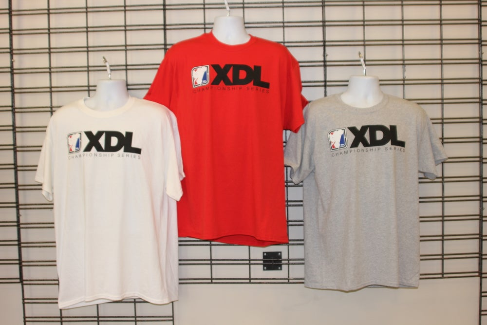 Image of Mens XDL Rectangle Logo T-shirt