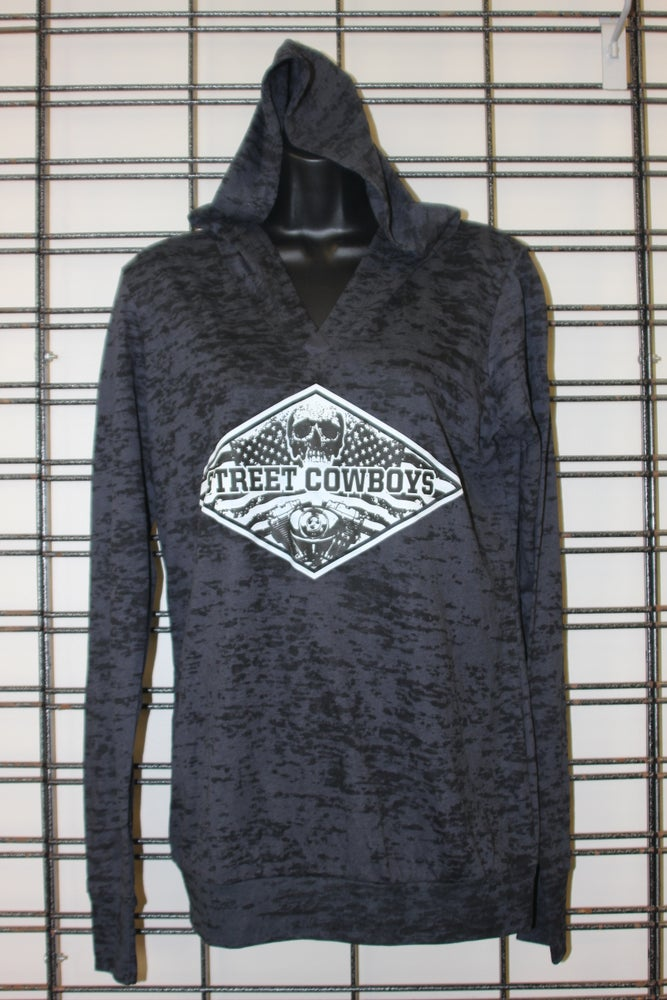 Image of Ladies StreetCowBoys Burnout Hoodie