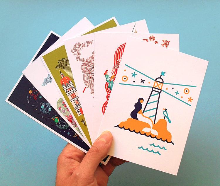 Image of Postcard packs