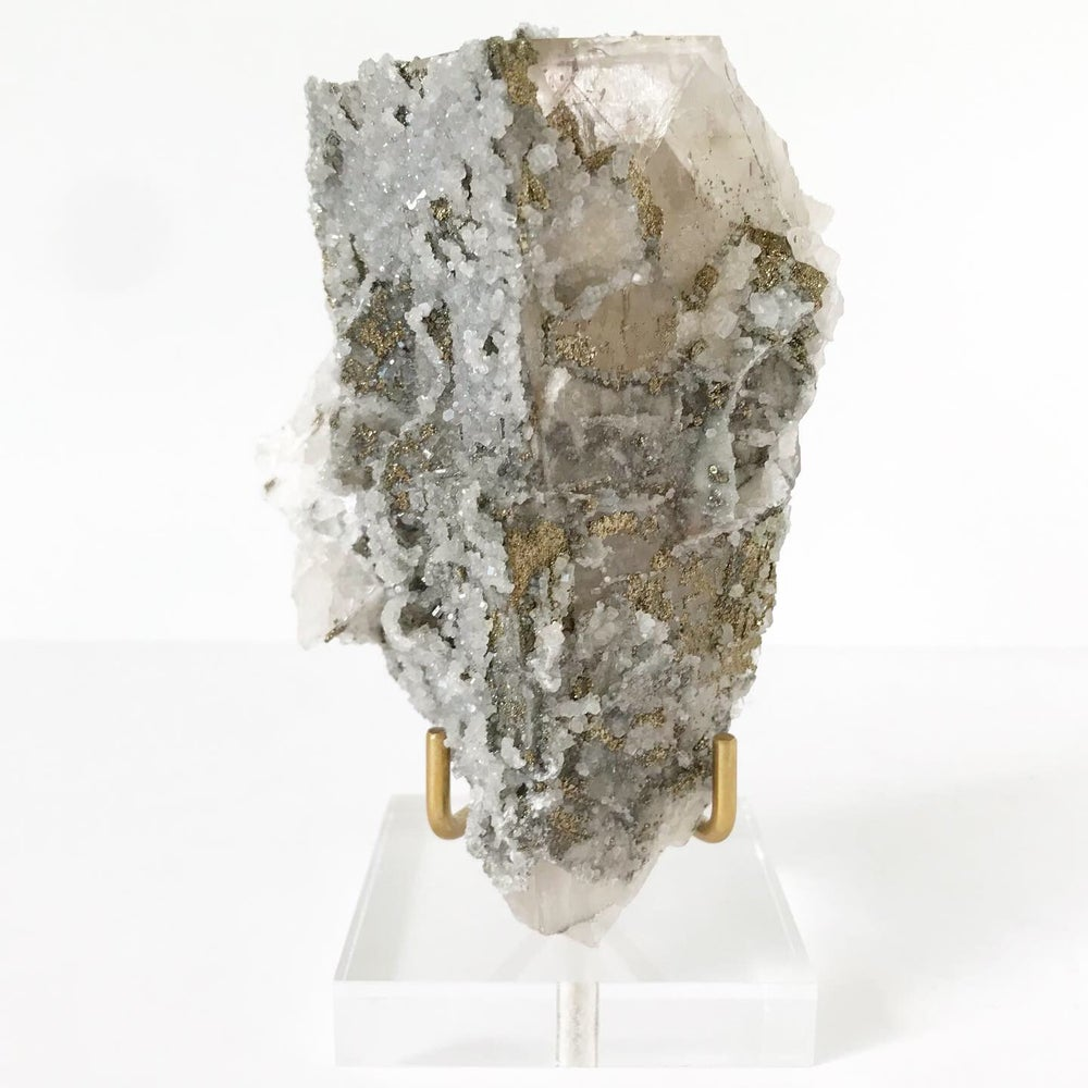 Image of Quartz/Chalcopyrite no.01 Luxe Collection Lucite Pairing