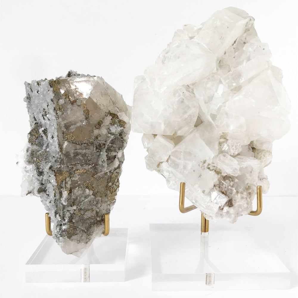 Image of Quartz/Chalcopyrite no.01 Luxe Collection Lucite Pairing