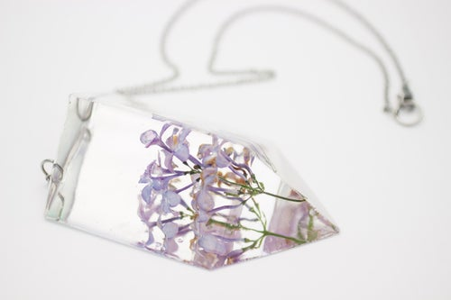 Image of Lilac (Syringa vulgaris) - Statement Piece Necklace #1